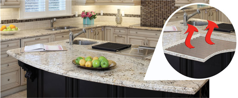 Feelswarm Heating Elements Eliminate The Cold Touch Of Stone Countertops And Build A Soothing